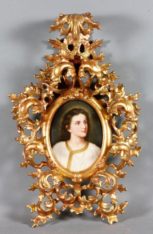 Victorian Royal Vienna Style Porcelain Plaque