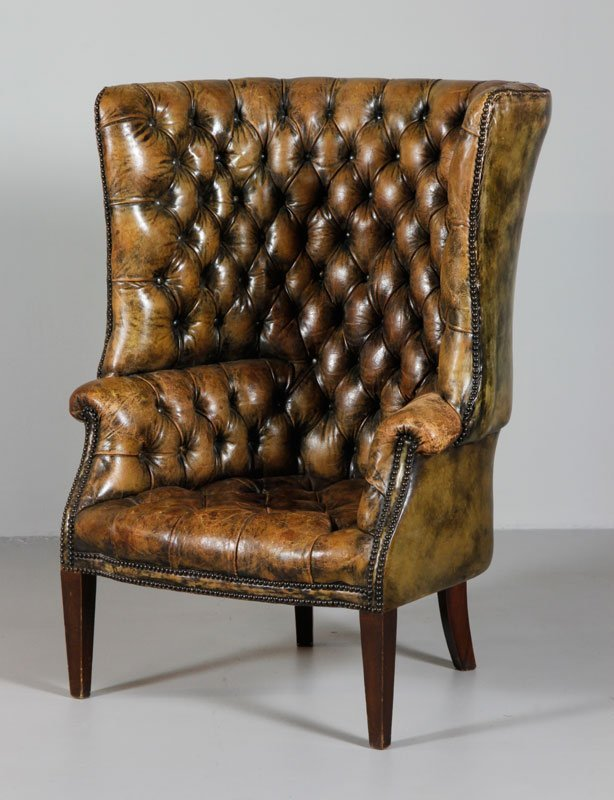 19th C. Chesterfield English Style Chair