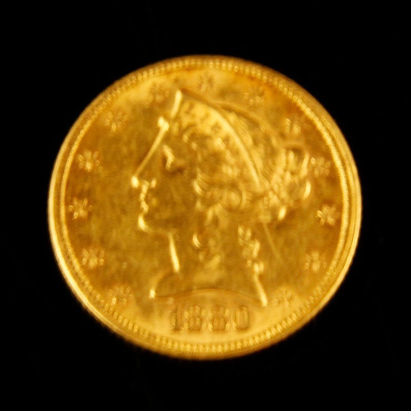 1880 $5 Gold Piece