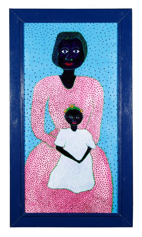 "Baron, ""Mother and Child,"" Painting"