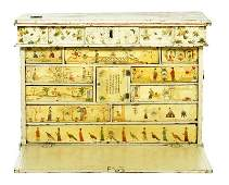 18th C. English Chinoiserie Paint Decorated Box