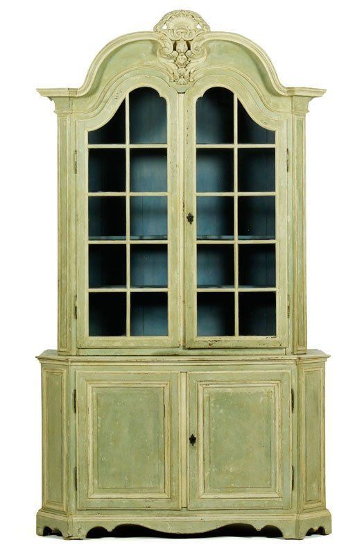 18th C. Louis XVI Paint Decorated Cabinet