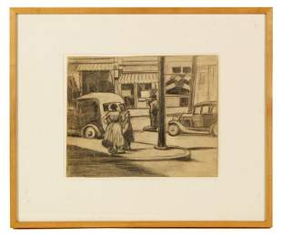 """Thrash, """"Drawing for the 24th and Ridge C,"""" Graphite on"""
