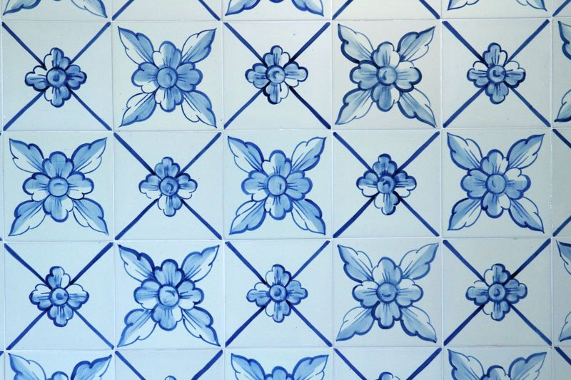 Portuguese Blue and White Tile - 2