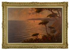 """In Style of Wood, """"Moterey Bay, CA,"""" O/C"""