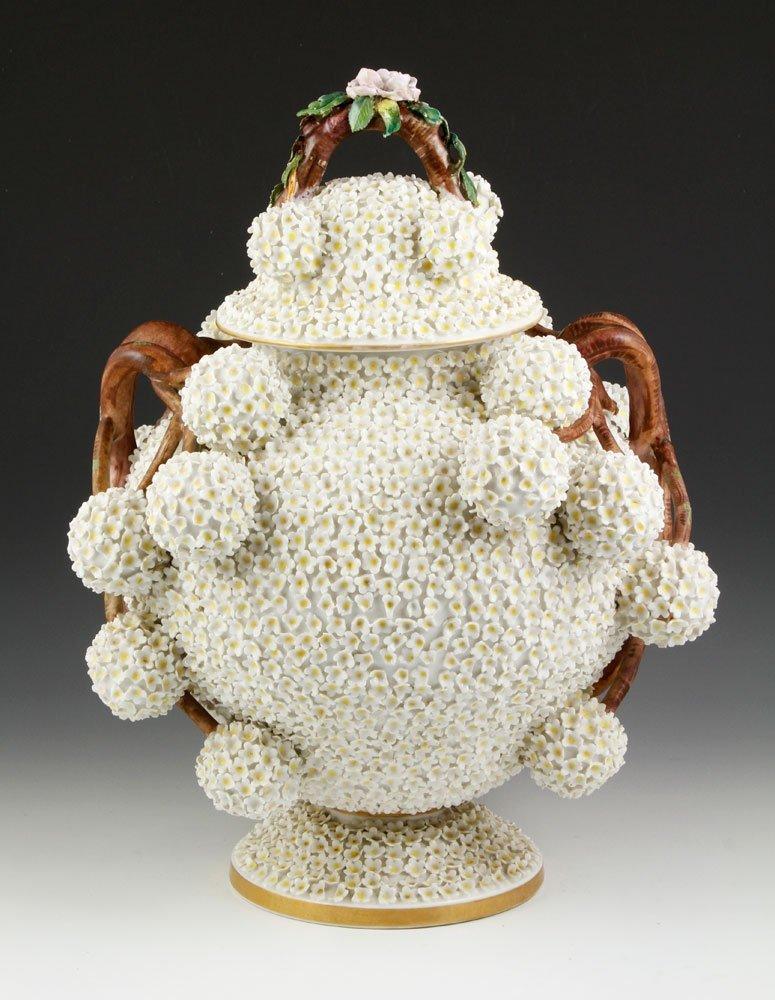 19th C. Meissen Porcelain Lidded Jar