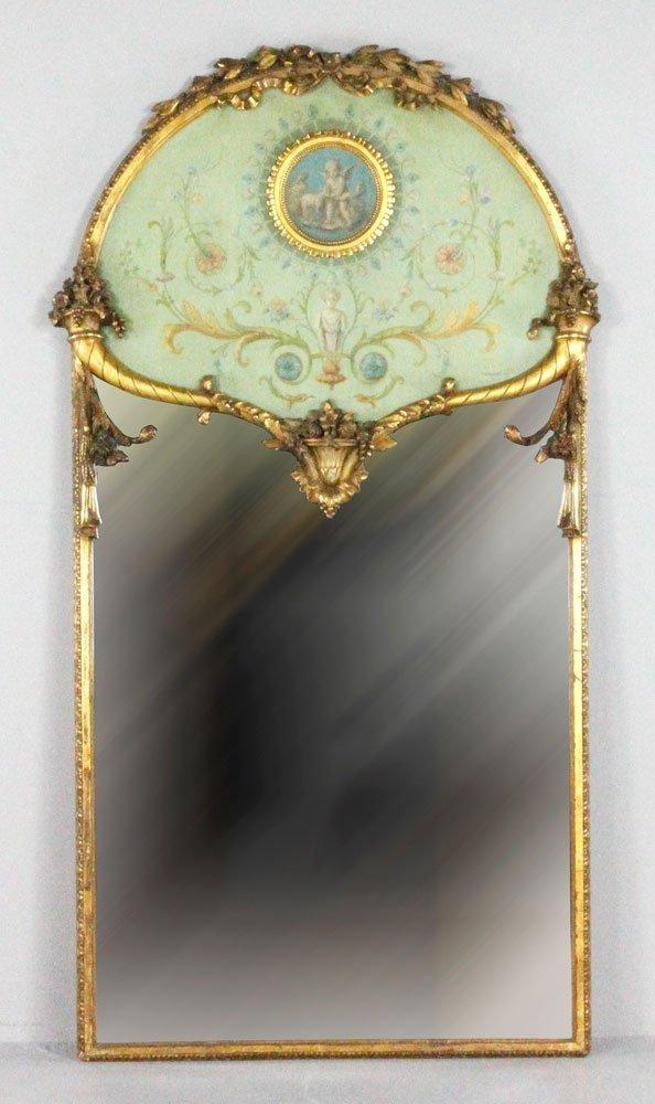 Victorian Louis XVI Style Wall Mirror