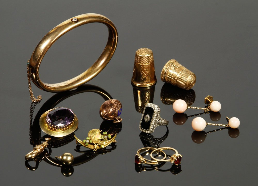 White and Yellow Gold Jewelry Lot