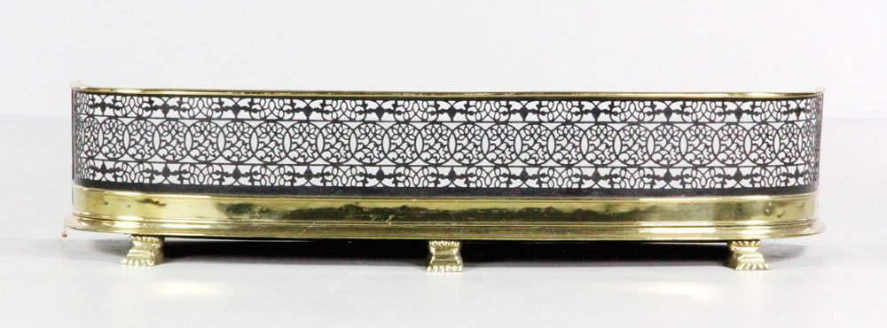 19th C. Pierced Iron Fire Fender