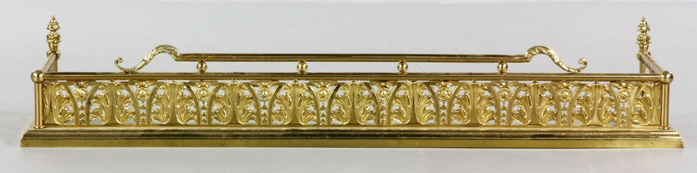 19th C. Victorian Aesthetic Movement Fire Fender