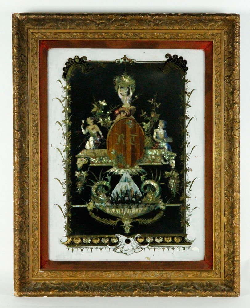 19th C. Chinese Reverse Painting on Glass