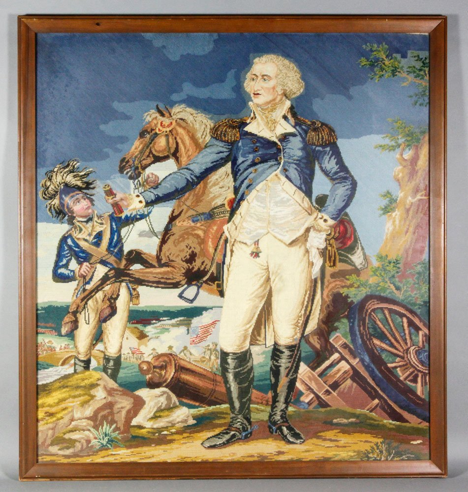 After Trumbull, George Washington, Needlepoint