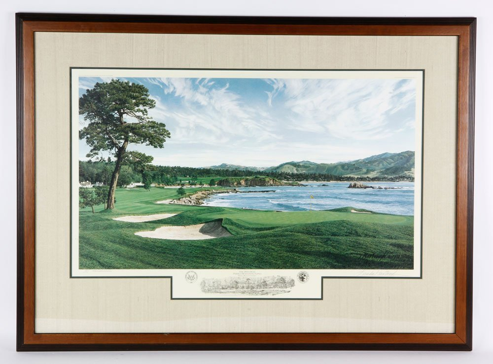 """""""The 18th Hole Pebble Beach Golf Links"""", Print"""