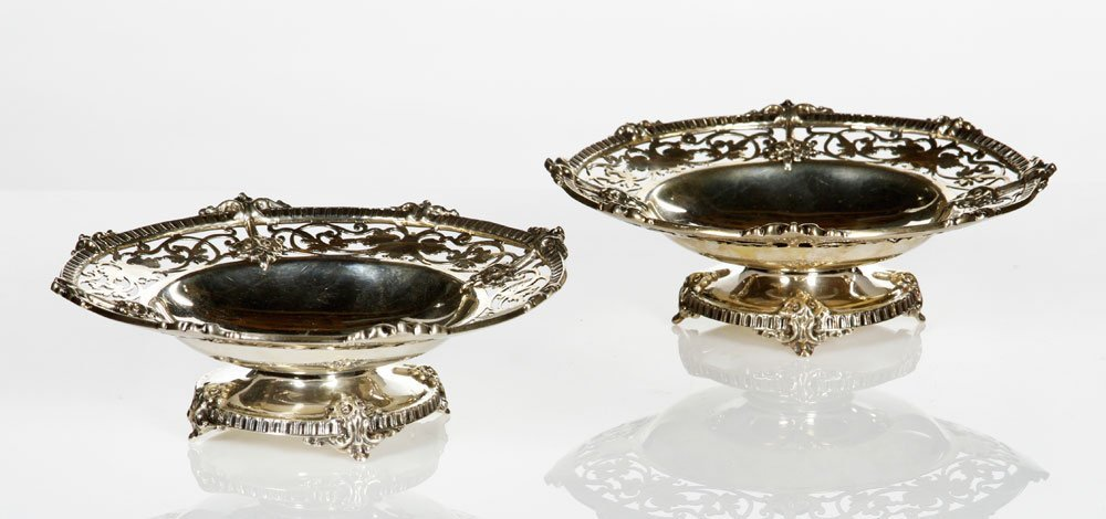Pair Mappin and Webb Footed Dishes