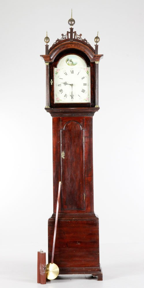 Early 19th C. Sheraton Tall Clock
