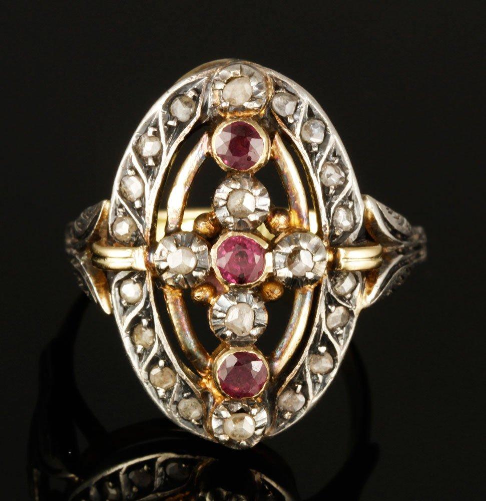 Antique 14K Diamond Ring