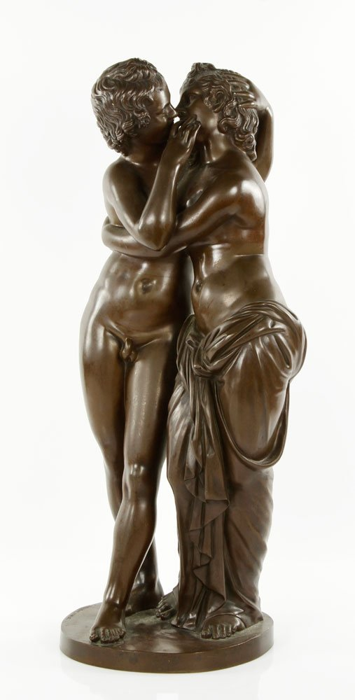 19th C. Classical Style French Bronze Sculpture