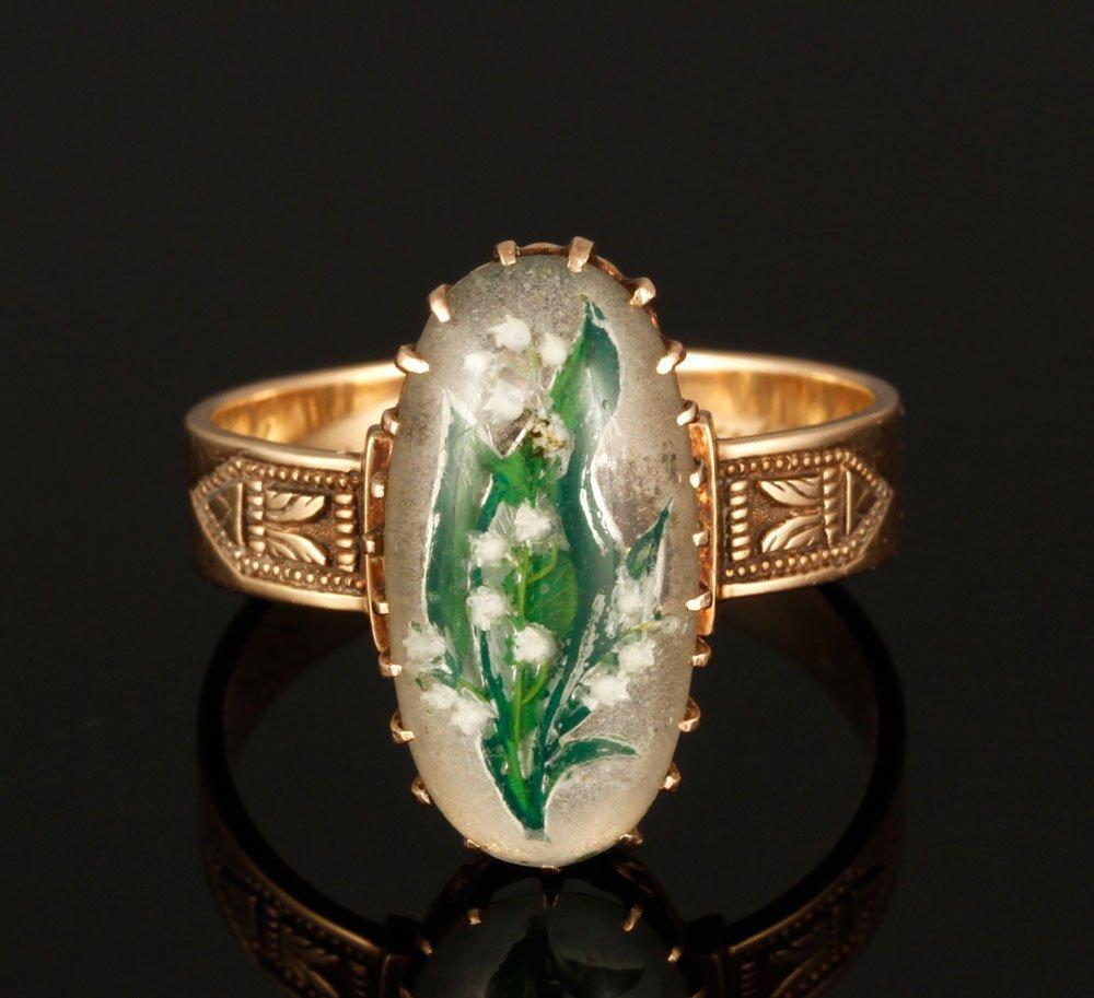 19th C. 14K Essex Crystal Ring