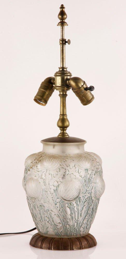 Lalique Thistle Lamp
