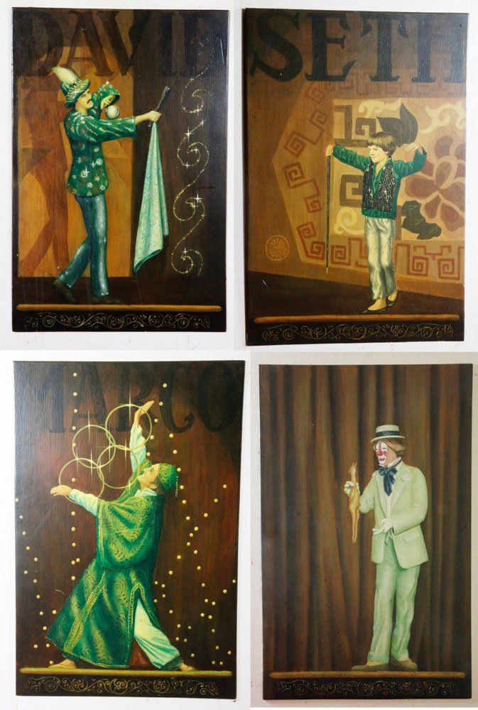 4 Heath Paintings from Cabot St Gazebo