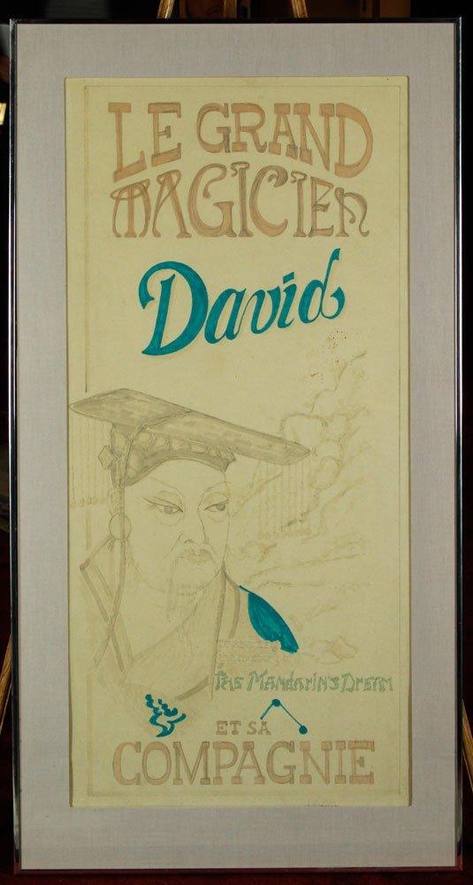 """""""Le Grand Magician David"""", Ink"""