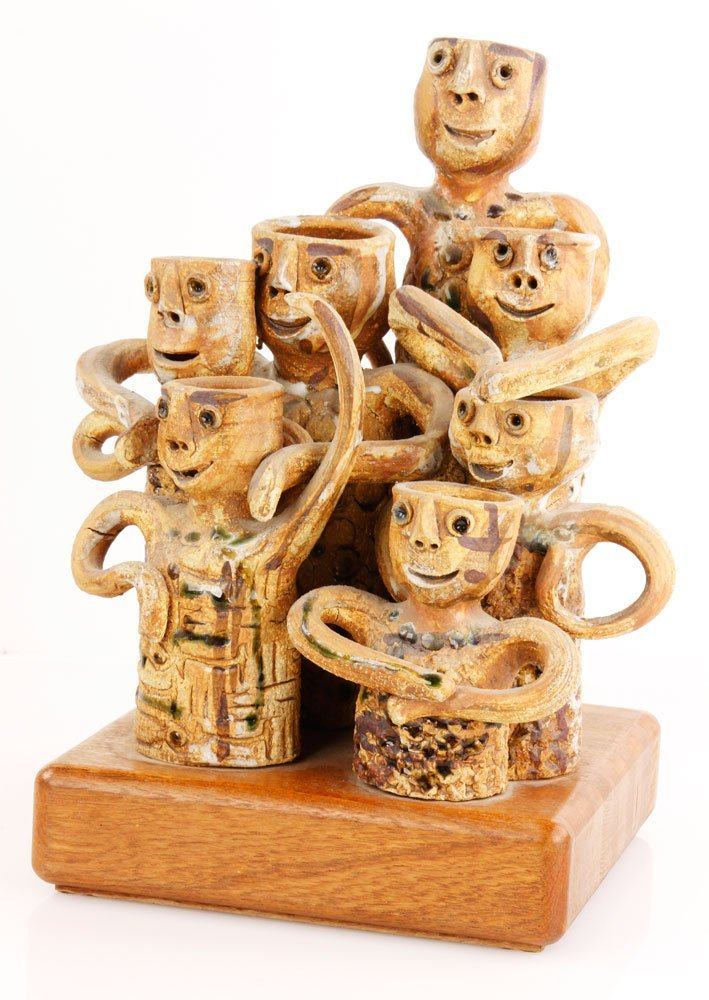 Fromhold, Group of 7 Figures, Ceramic