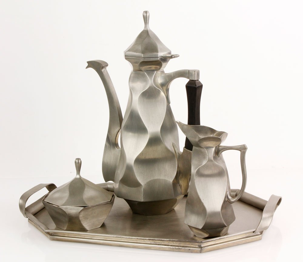 Halibut Point Pewter Tea Set