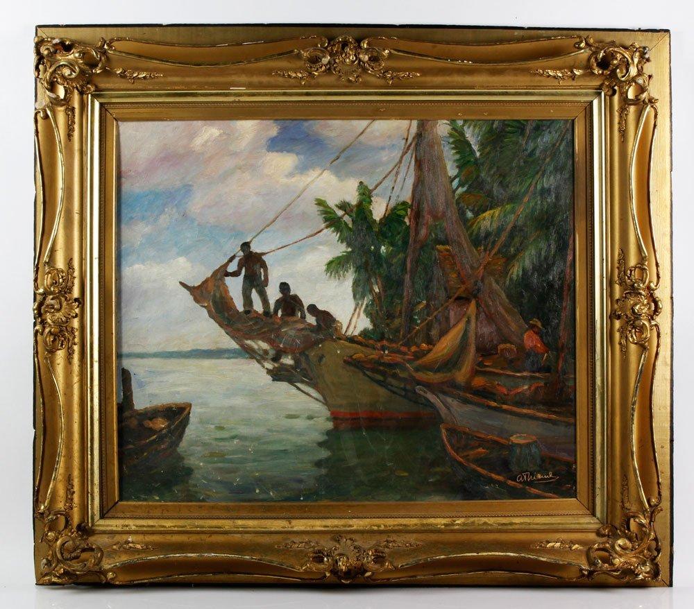 """Thieme, """"Nassau Boats,"""" O/B"""