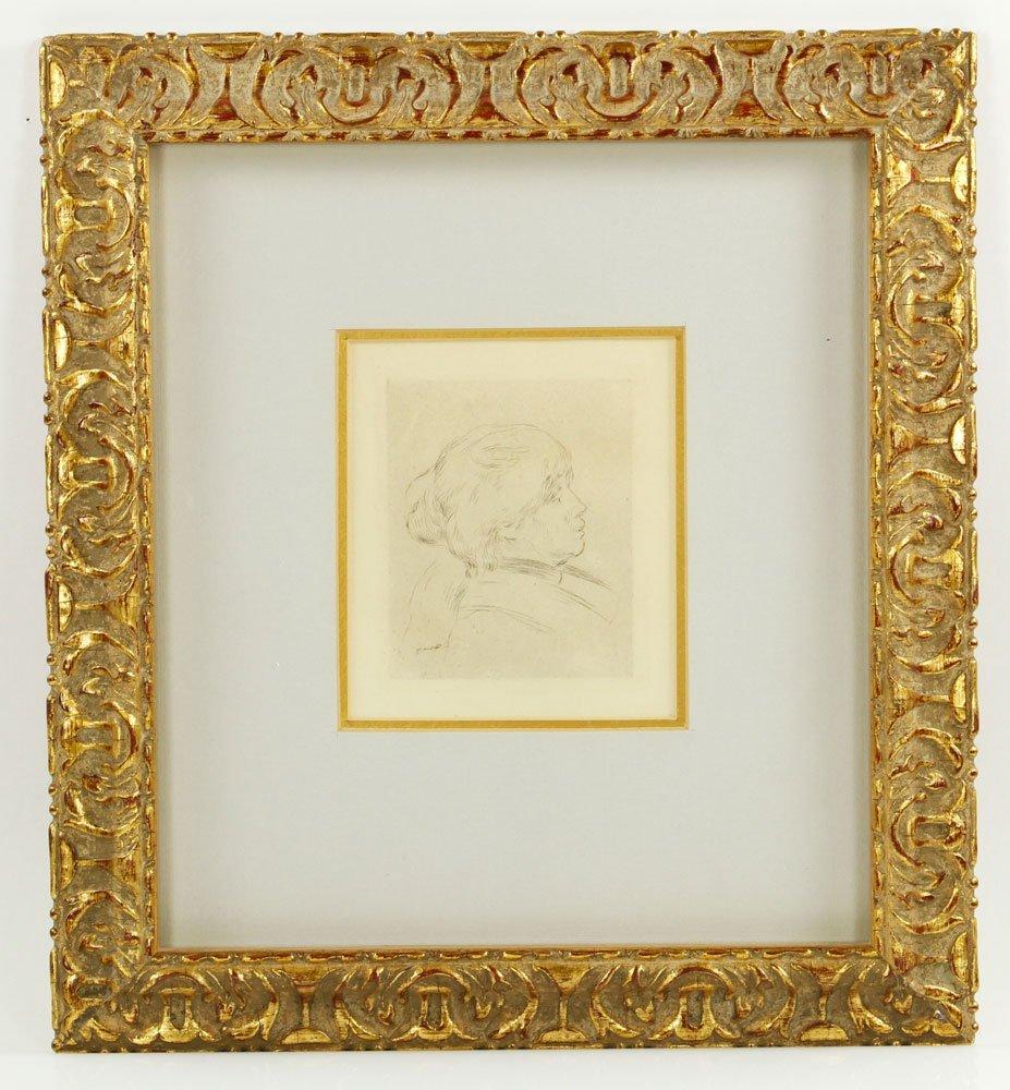 "Renoir, ""Portrait of Berthe Morisot,"" Etching"