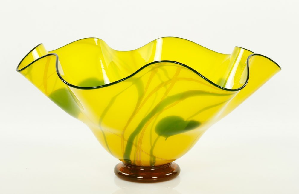 Scalloped Art Glass Bowl