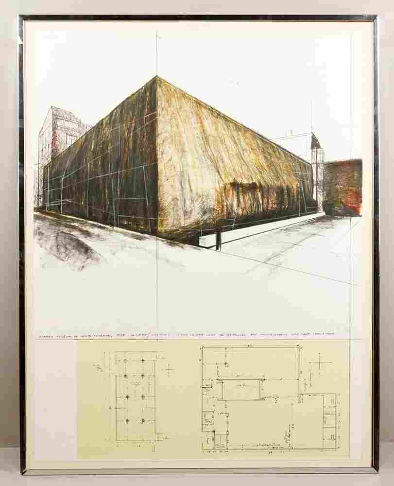 """Christo, """"Wrapped Museum of Contemporary Art,"""""""