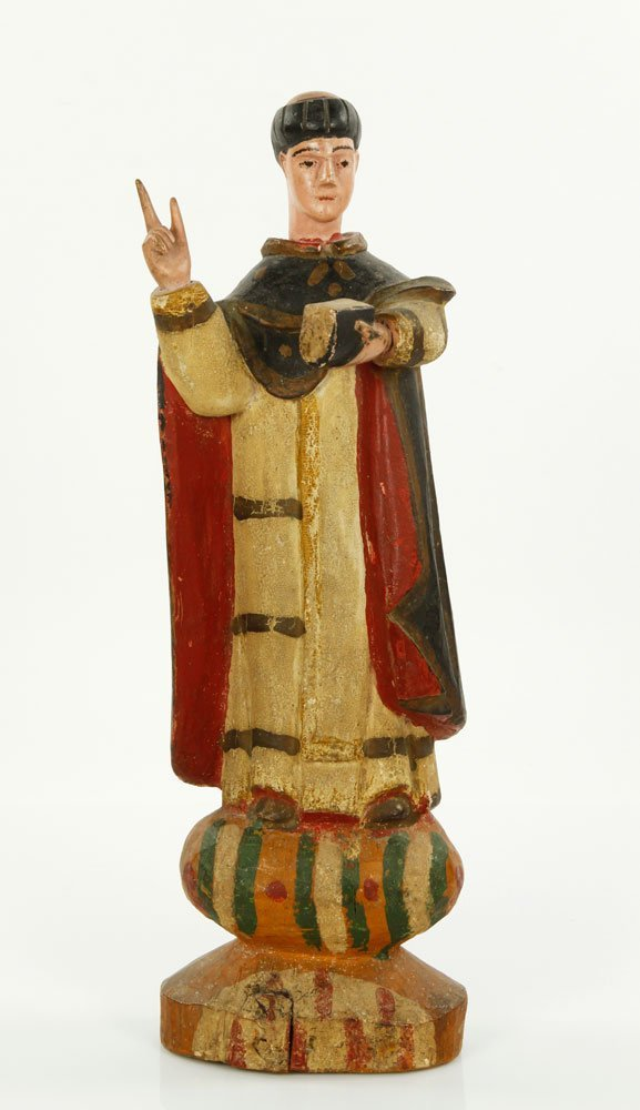 18th C. Carved Santos Figure