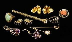 11 Pcs Gold Jewelry