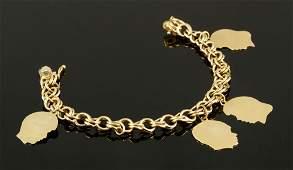 14K Gold Charm Bracelet