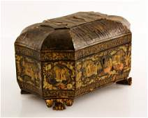 Chinese Lacquer Tea Caddy