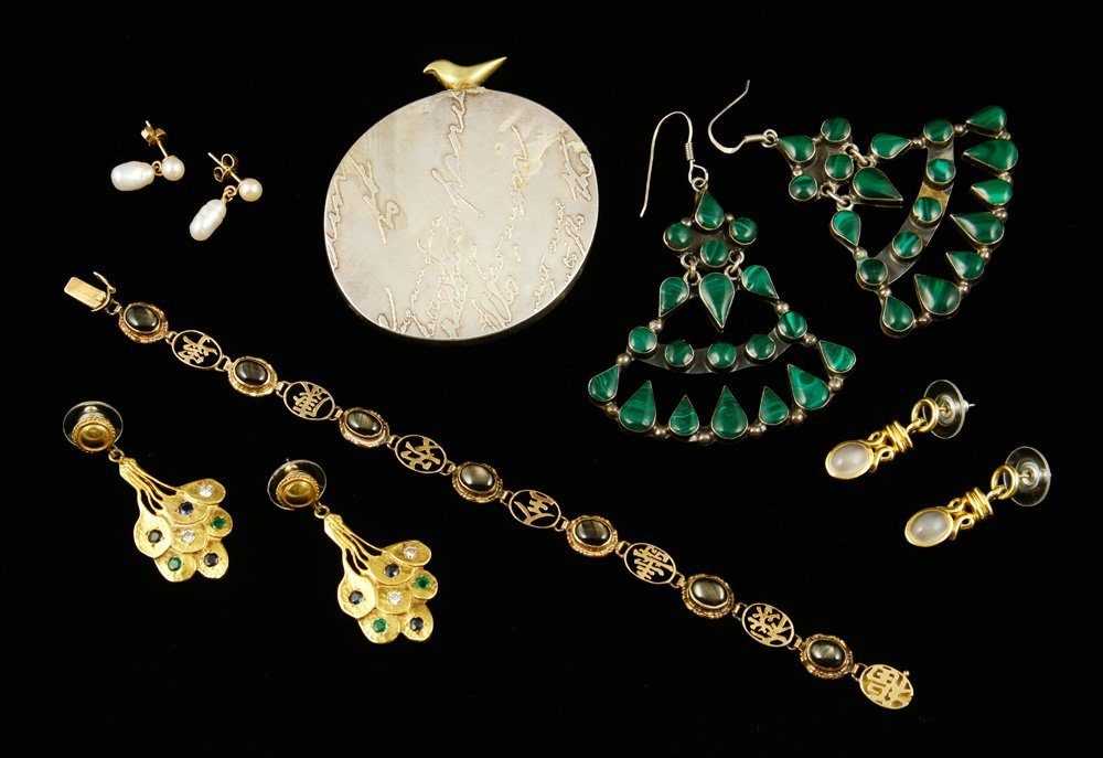 Collection of Gold and Silver Jewelry