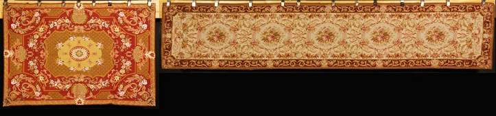 20th C Aubusson Style Needlepoint Runner and Rug
