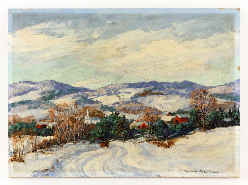 Traver, Vermont Winter Scene, O/P