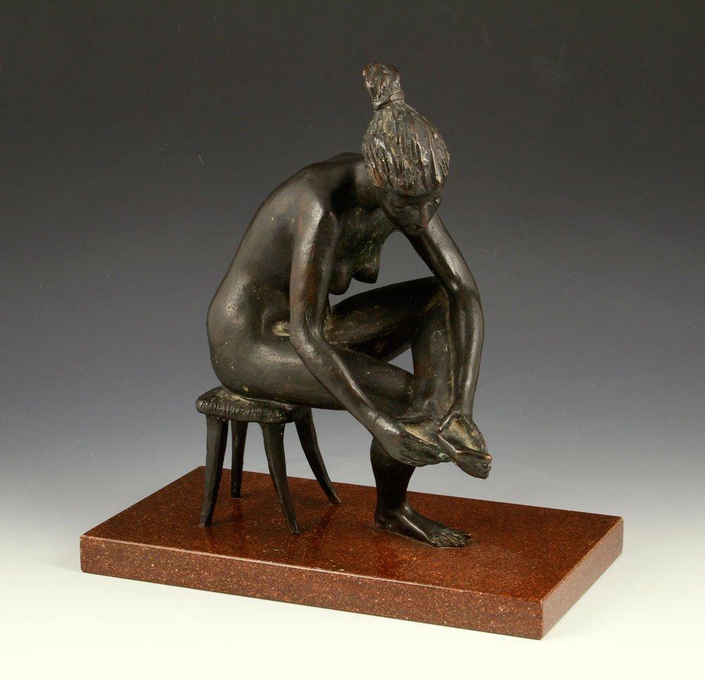 Pellini, Seated Nude Woman, Bronze