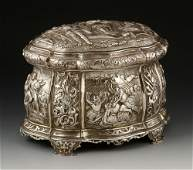 Continental Sterling Embossed Footed Box