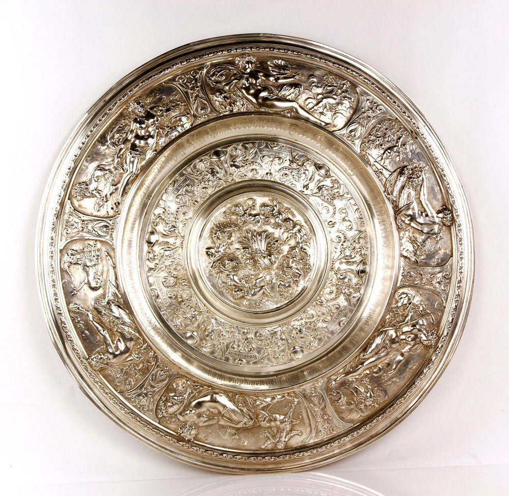 19th C. English Silverplate Charger