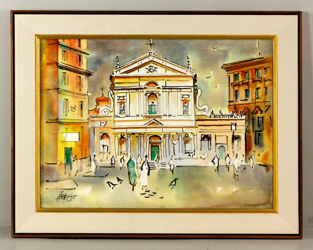 """Zornes, """"Santa Cecilia-Rome"""", W/C"""