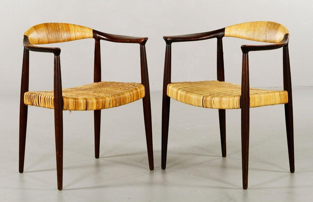 Pr Attrb. to Hans Wegner Round Chairs