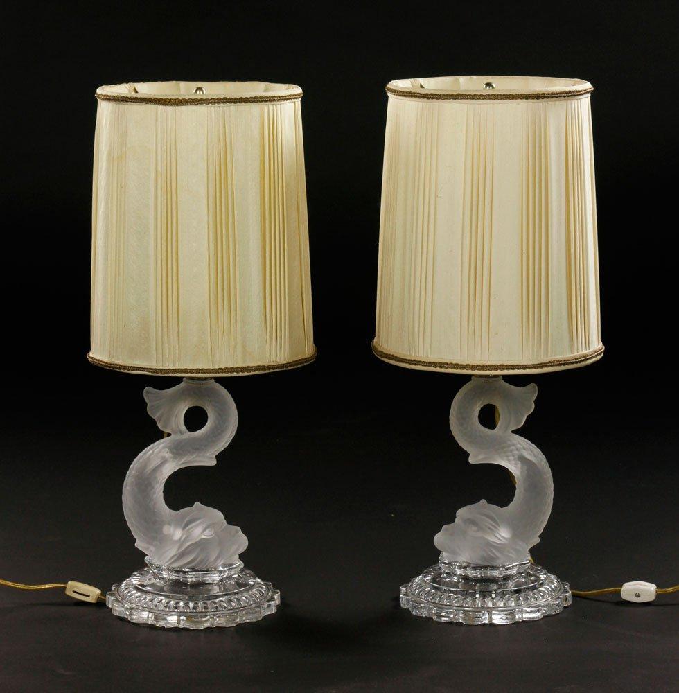 Pr. Baccarat Table Lamps