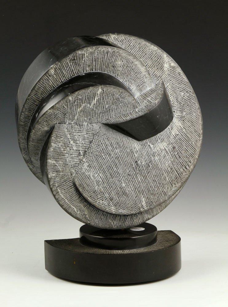 20th C. Black Marble Sculpture