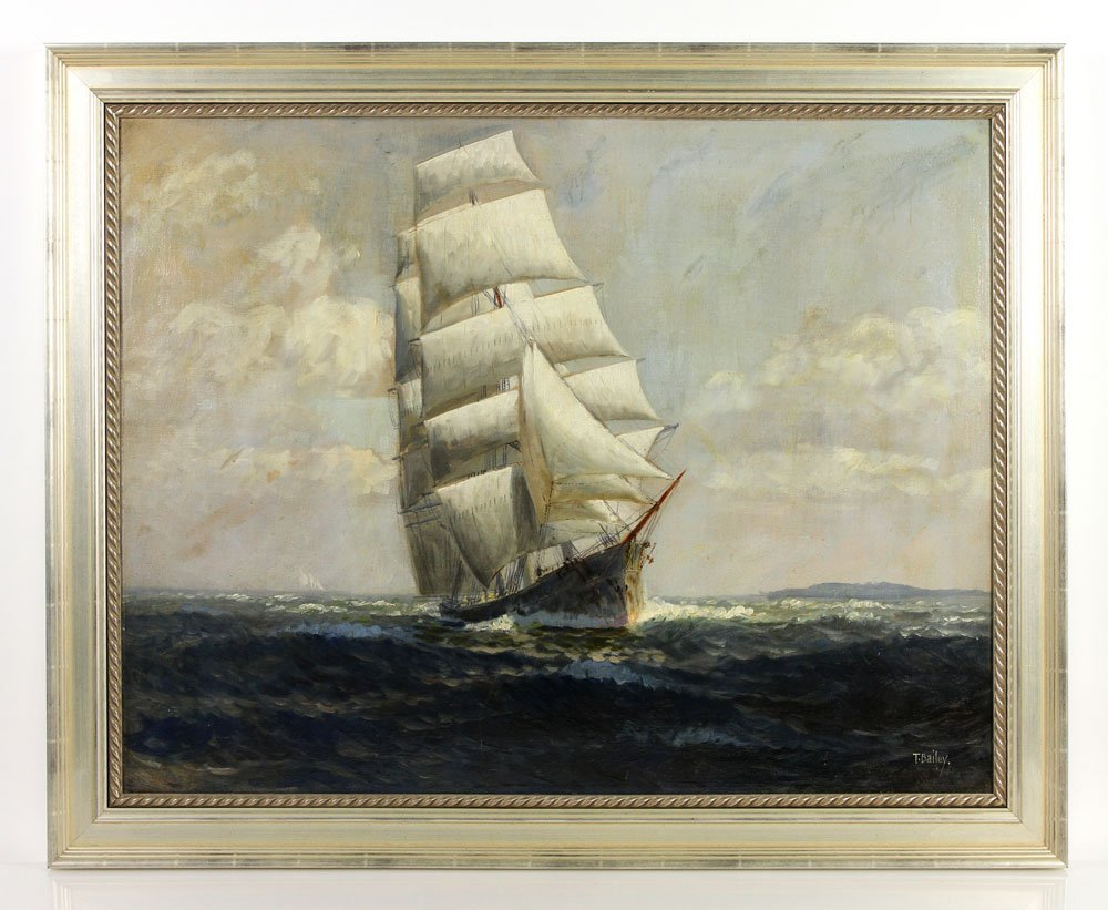Bailey, Sailing Ship, O/C