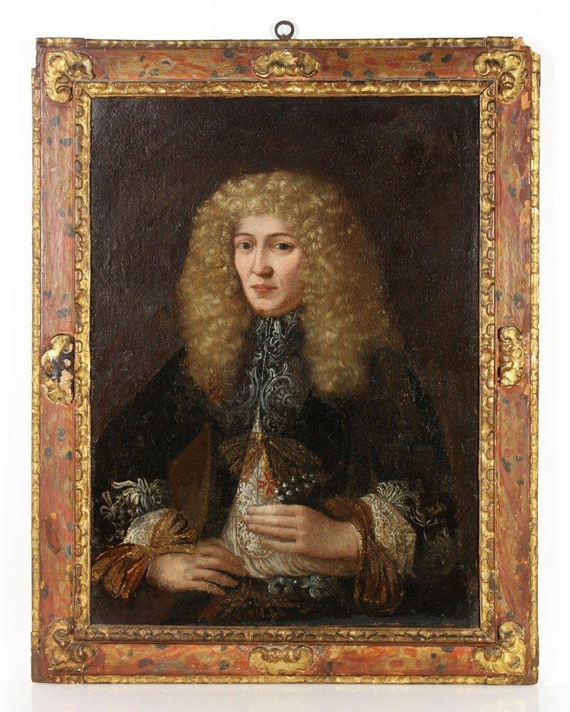 17th C. Continental, Portrait of a Nobleman, O/C