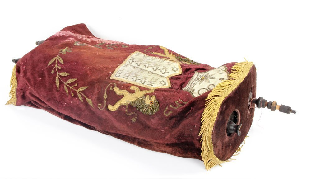 Torah with Hand Embroidered Cover