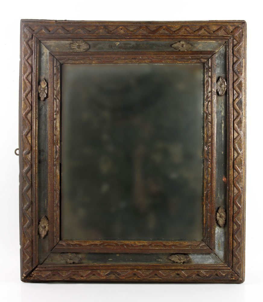 Early Italian Carved Mirror