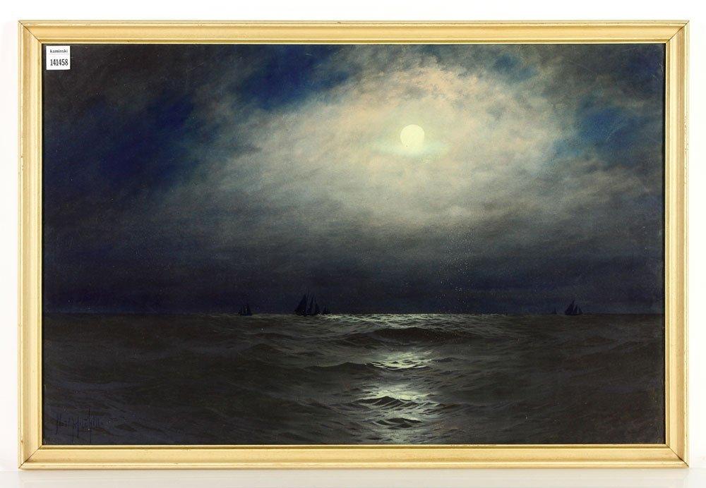 Mitchill, Moonlit Seascape, Pastel